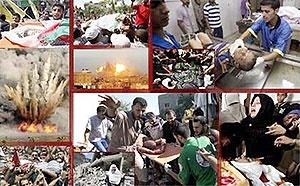 غزه زیر آتش؛ ۲۱۳ شهید؛ شلیک ۵۰۰ تن مواد منفجره