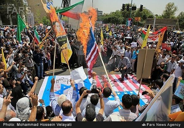 بازتاب خروش ملت ایران در روز جهانی قدس در رسانه های خارجی