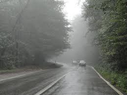 مه در جاده مازندران