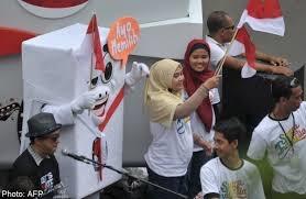 آغاز انتخابات ریاستجمهوری در اندونزی
