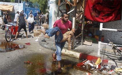 در حملات روز یکشنبه ۱۰ فلسطینی شهید و ۳۰ نفر زخمی شدند