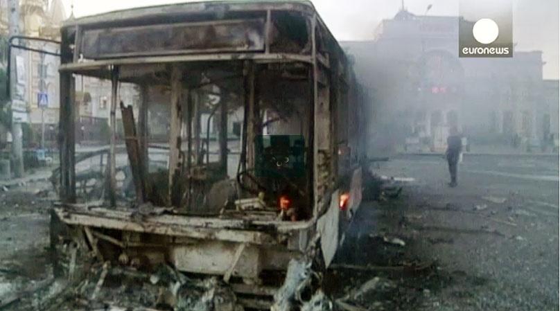 ارتش اوکراین مرکز دونتسک را گلوله باران کرد