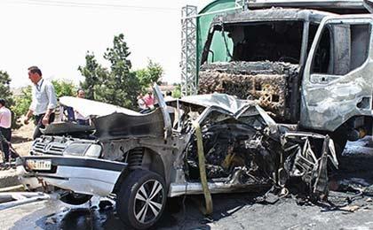 ۱۴ کشته درسانحه رانندگی محور داراب - بندر عباس ۱۴ کشته درسانحه رانندگی محور داراب - بندر عباس