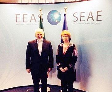 دیدار ظریف و اشتون درباره مذاکرات هستهای ایران