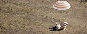 سه فضانوردسایوز به زمین بازگشتند