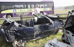 تصادف زنجیرهای ۱۵۰ خودرو در هلند
