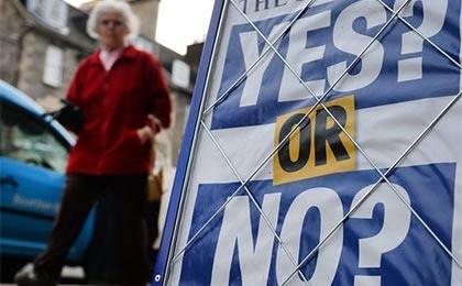 زشت و زیبای تبلیغاتی در همه پرسی اسکاتلند