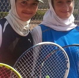 هلیا غفرانی و نیلوفر قاسم علیپور در فینال مسابقات تور تنیس زیر ۱۴ سال آسیا