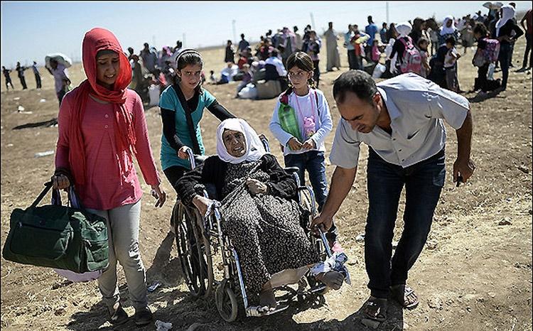 هجرت دهها هزار کرد سوری ازجنایات داعش