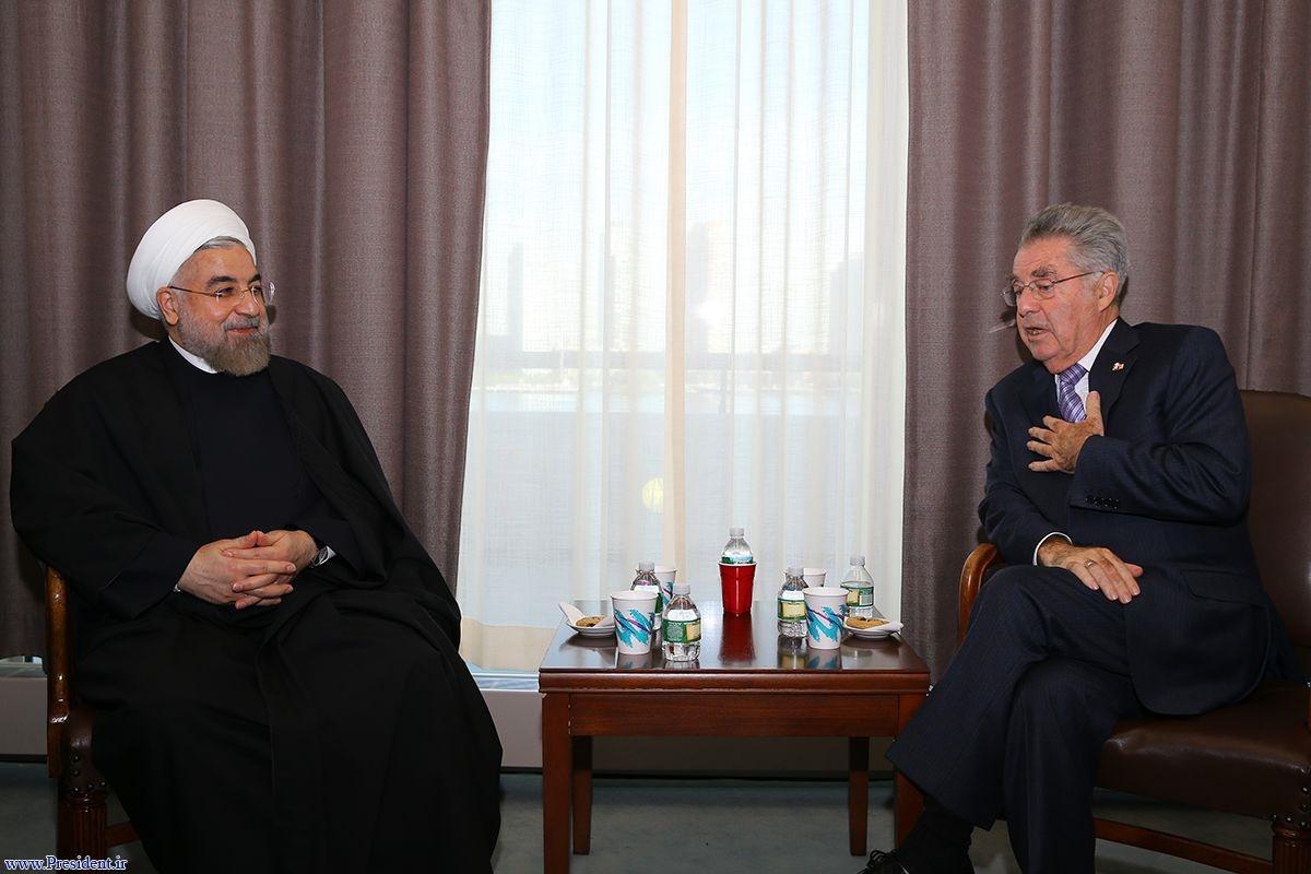 دیدار دکتر روحانی با رییس جمهوری اتریش