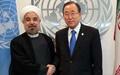 جزئیات دیدار روحانی و بانکی مون / قدردانی بانکی مون و تاکید روحانی