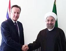 روحانی با نخست وزیر انگلیس دیدار کرد