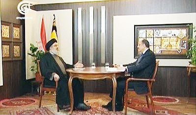مصاحبه دبیرکل حزبالله لبنان با المیادین