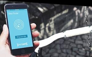 گوشی هوشمند و ویبراتور مسیریاب دوچرخه