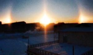پدیده علمی شکست نور  خورشید