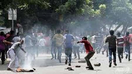 درگیری مخالفان با پلیس در پایتخت بنگلادش