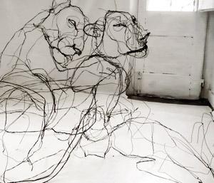 شباهت تندیسهای سیمی به نقاشی