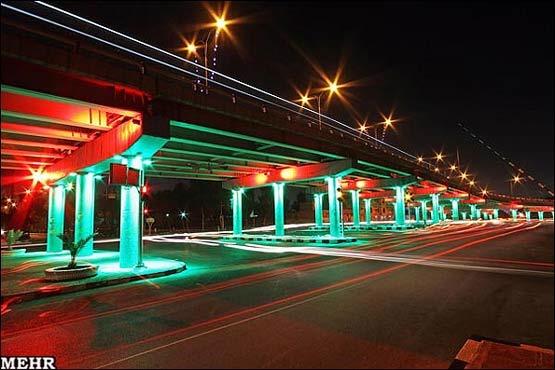 پل صدر نورپردازی میشود