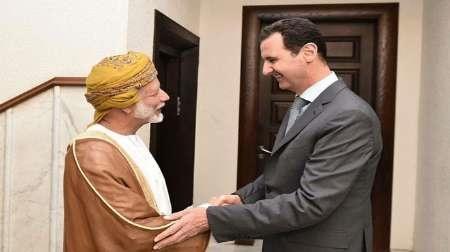دیدار بن علوی وزیر خارجه عمان با بشار اسد