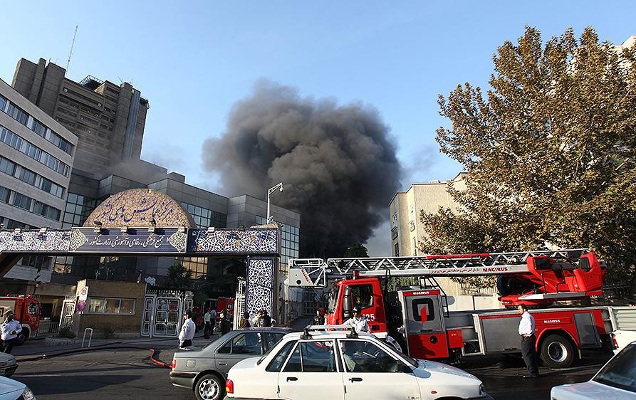 آتش سوزی وزارت کشور