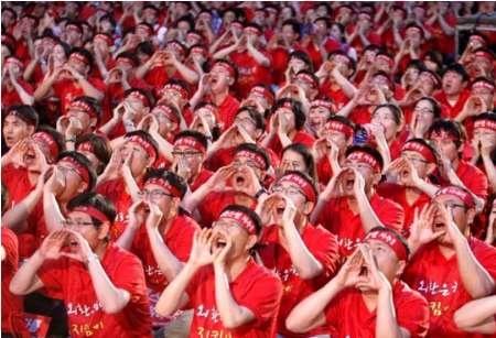 تجمع اعتراضی مردم کره جنوبی علیه نخست وزیر ژاپن