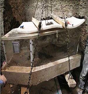 فیلم انتقال اسکلت بانوی ۷ هزار ساله به موزه ملی