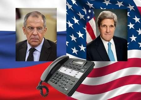لاوروف و کری درباره مبارزه با داعش تلفنی مذاکره کردند