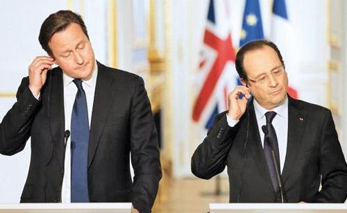رئیسجمهور فرانسه و نخستوزیر انگلیس روز گذشته بر  افزایش همکاری اطلاعاتی و عملیاتی در سوریه تاکید ک
