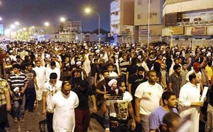 تظاهرات مردم عربستان در قطیف