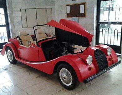 ساخت خودروی مورگان در کرمانشاه