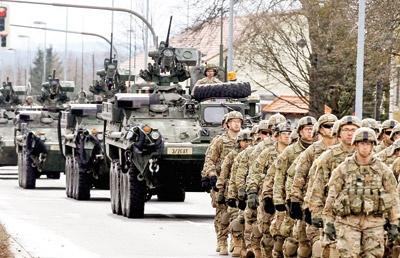 صفآرایی نظامی آمریکا در اروپا علیه روسیه