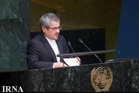 """ایران پیش نویس قطعنامه """"جهان عاری ازخشونت و افراطیگری"""" را تقدیم سازمان ملل کرد"""