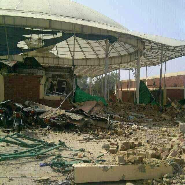حسینیه تخریب شده شیعیان