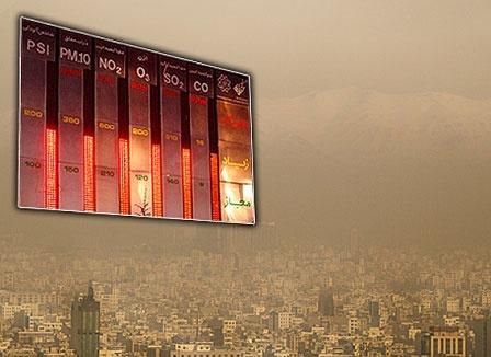 انباشت آلایندگی در تهران تا یکشنبه هفته آینده ادامه دارد