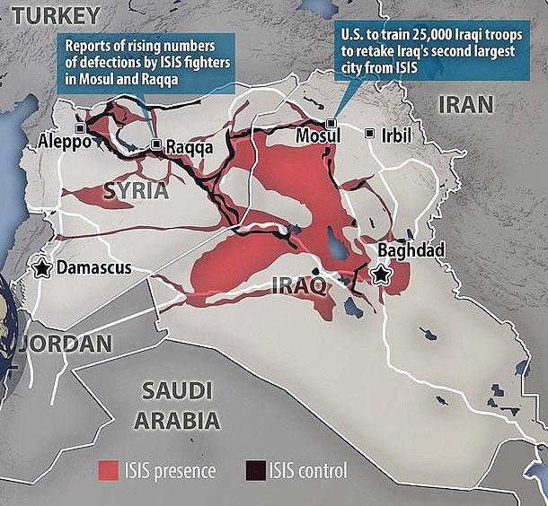 شهرهایی که داعش هنوز دارد و شهرهایی که از دست داد