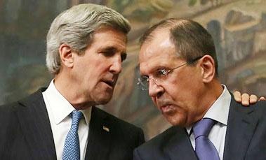 """توافق کری و لاوروف درباره حضور """"فراگیر"""" معارضان سوریه در مذاکرات"""