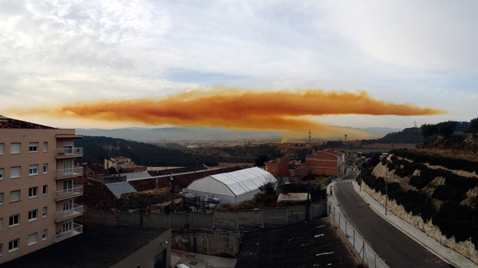 Toxic orange cloud
