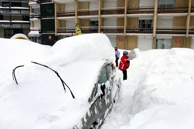 برف، فرانسه را نارنجی کرد