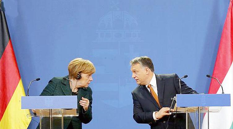 اختلاف نظر میان مرکل و نخست وزیر مجارستان درباره دموکراسی