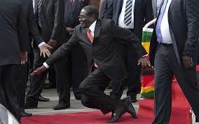 سقوط رئیس اتحادیه آفریقا از پله