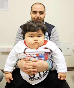 سفر تپلترین کودک از بجنورد تا تهران برای درمان
