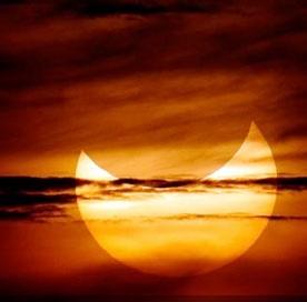 آخرین خورشید گرفتگی سال ۱۳۹۳ یک روز قبل از تحویل سال
