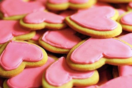 شیرینی هایی به شکل قلب