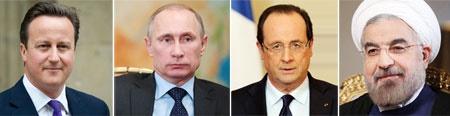 گزارش خبری درباره گفتگوهای تلفنی  روحانی با پوتین؛ اولاند و کامرون