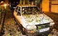 بارش شدید تگرگ در تهران