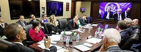 جلسه ویدئویی کری و اوباما
