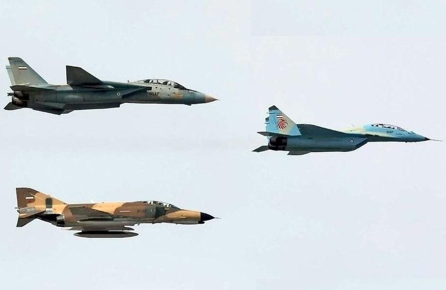 تمرین جنگندههای نیروی هوایی در آسمان پایتخت