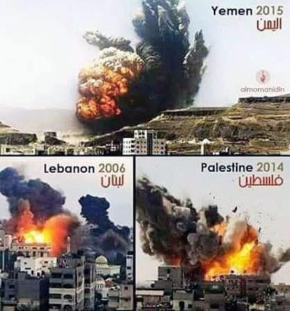 توفان قاطع سعودی ها علیه یمن از تجاوزهای صهیونیست ها به لبنان کپی برداری شده بود