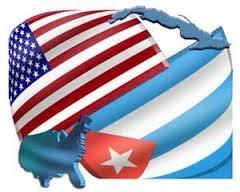 پرچم آمریکا و کوبا