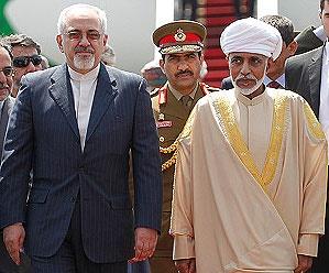 قدردانی ظریف از حمایتهای سلطان قابوس در موضوع هستهای ایران